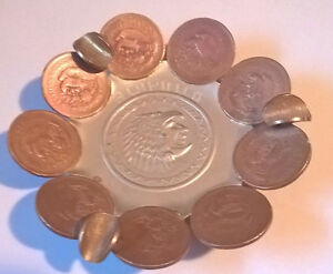Vintage Mexican Coin Ashtray, Acapulco