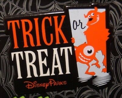 DISNEY MONSTERS INC. TRICK OR TREAT MIKE & SULLEY HALLOWEEN PIN