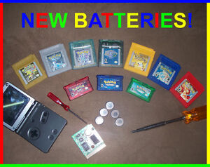 Gameboy GBC GBA Battery Repair Replacement Pokemon Emerald