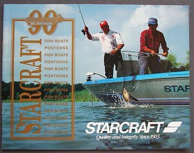 Original 1990 Starcraft Fish Boats Pontoons Dealer Sales Brochure