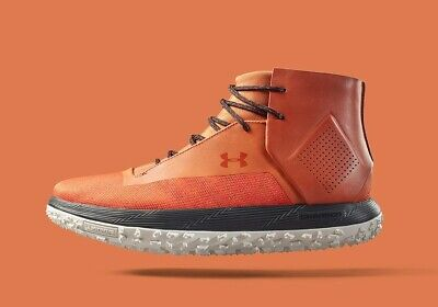 UNDER ARMOUR Fat Tire ONDA Hiking Boots Size 12 Athletic SHoes UA Texas Orange