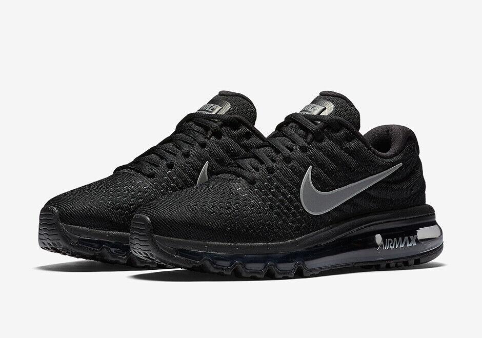 Nike Air Max 2017 Black Mens US 10 UK 9 849559 001 Running Sneakers Trainers