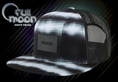 - New Nixon Team Trucker Mens Black White Blend Snapback Cap Hat