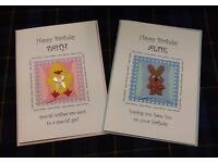 3 Card Stands with approx. 1300 Handmade Birthday Cards BARGAIN!!!