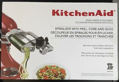 KitchenAid Spiralizer Attachment with Peel,Core and Slice New KSM1APC