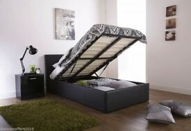 ==WOW OFFER=AVLBL WITH POCKET ORTHO / MEMORY MATTRESS= NEW DOUBLE LEATHER STORAGE BED WITH MATTRESS