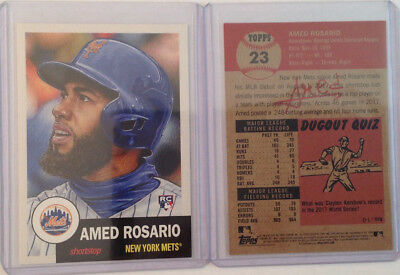 2018 Topps Now Living Amed Rosario Rc  23 Mets  From Set  8