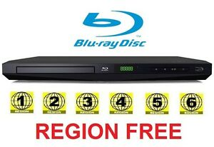 Toshiba BDX1300 All Multi Zone Code Region Free Blu Ray Player 1 2 3 4 5 6 DVD