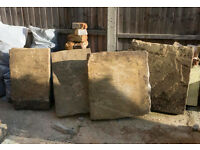 four lime stone blocks for sale