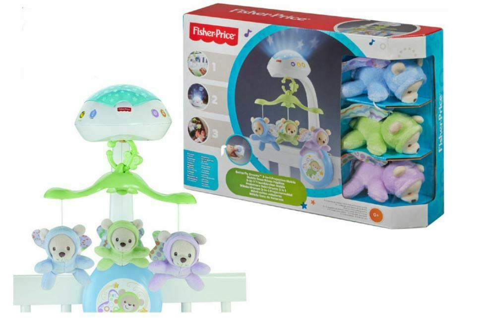 Mattel Fisher-Price CDN41 Traumbärchen Mobile Baby Projektor Sterne NEU