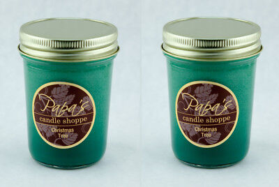 Scented Soy Candles Papa's Candle Shoppe Christmas Tree Twin