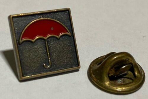 Vintage Travelers Insurance Red Umbrella Pin Pinback Tie Tack