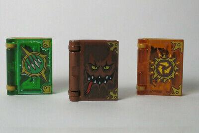 3)Book Lot Monsters, Destruction, Revenge 70321 70323 70324 Nexo LEGO Minifigure