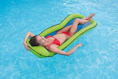 Wasser-lounge (Intex Lounge Mesh Wasserliege Luftmatratze mit Netzeinsatz 178 x 94 cm  58836)