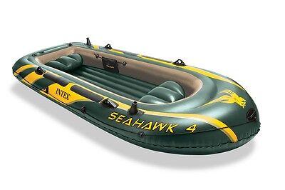INTEX 68351 Seahawk 4 Boot Schlauchboot Angelboot Ruderboot Set Paddel Ruder