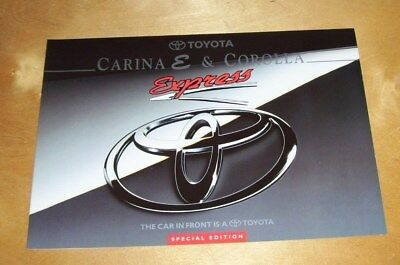 TOYOTA CARINA E & COROLLA EXPRESS SPECIAL EDITION SALES BROCHURE 00000-90683-BR