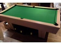 Home slate bed pool table and accessories