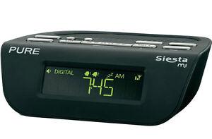 pure siesta mi series 2 dab digital fm bedside alarm clock radio black 0759454813956 ebay. Black Bedroom Furniture Sets. Home Design Ideas