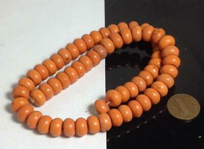 "10mm diameter x 6mm abacus shape Pumpkin color Howlite beads//15.5""(d122-w2)"