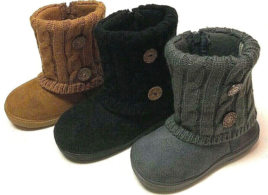 Toddler Kids Infant Winter Casual Strap Warm Faux Fur Suede