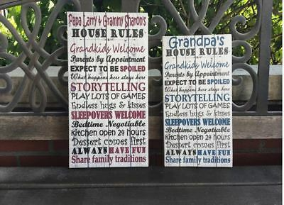 Personalized Grandparents' Sign, Custom Canvas, House Rules, Best Gift ()