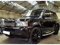 2008 Range Rover Sport 2.7 Metallic Black Colour Coded Bumpers/Sides Full Service His May Swap