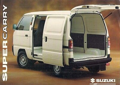 Suzuki SuperCarry Van 1996 UK Market Foldout Sales Brochure