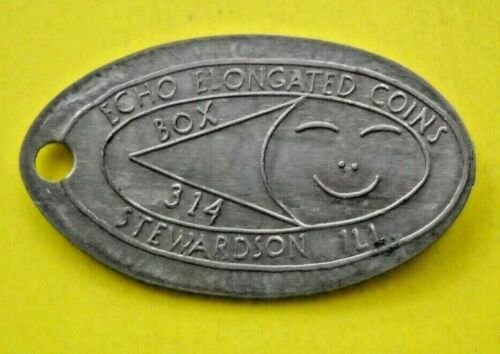 ECHO elongated nickel not penny Stewardson IL USA 5 cent ECO souvenir coin