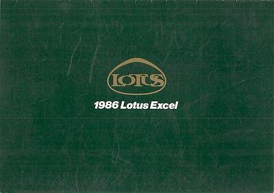 Lotus Excel 1986 UK Market Foldout Sales Brochure