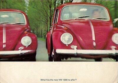 Volkswagen Beetle 1300 1965-66 UK Market Sales Brochure Saloon Convertible