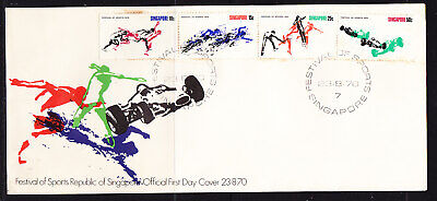 Singapore 1970 Sports Festival First Day Cover Unaddressed