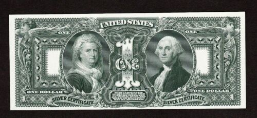 Proof Print or Intaglio by BEP of Back of 1896 $1 Educational Silver Certificate