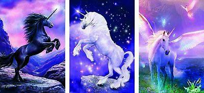 3 Unicorns 3D Lenticular Poster - -12x16 Print Animated - 3 prints in 1