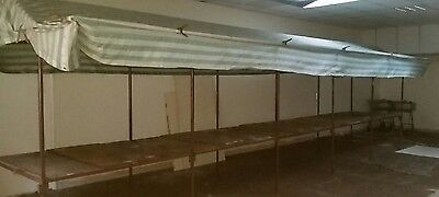 25ft Market stall with canopy and 18 clips