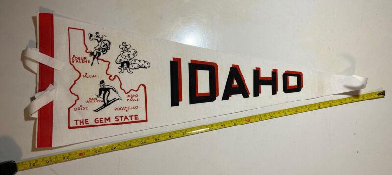 "Vintage Idaho The Gem State Pennant Rare 27""x8"""