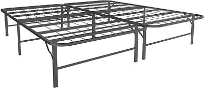 Platform California King Size Bed Frame, 14 Inch High Mattress Stand, Foldable California King Metal Bed Frame