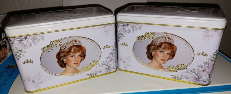 Diana Princess Of Wales English Breakfast Tea Tin With 40 Teabags Each (1 Tin)