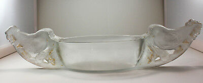 Rare R. LALIQUE MESANGES JARDINIERE Heavy Glass Bird Bowl Cir 1927 Model 3462