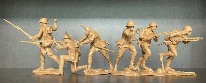 PLASTIC PLATOON Japanese soldiers WW2 Toy soldiers 1:32 New release set # 2