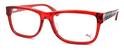 PUMA PU0047OA 012 Men's Eyeglasses Frames Large 57-17-145 Red / Black + (Red Eyeglass Frames For Men)