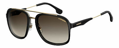 Carrera 133/S Black Gold 02M2 / Brown Gradient Lens 57-19-140. (Carrera Sunglasses Black Gold)