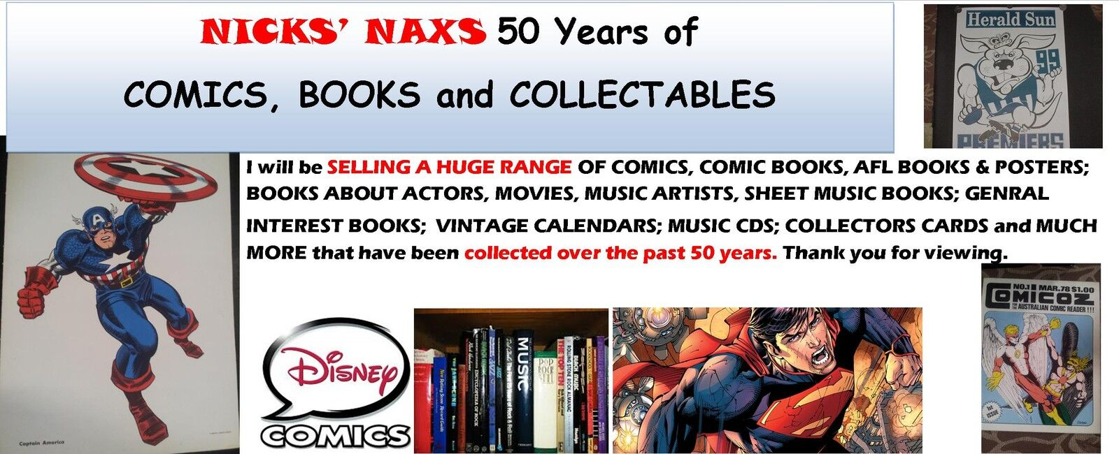 Nicks'Nax Comics Books Collectables