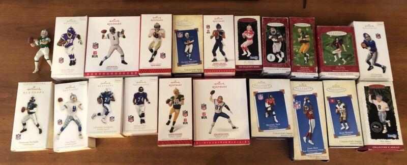 21 NFL Hallmark Keepsake Ornaments Collectors Lot