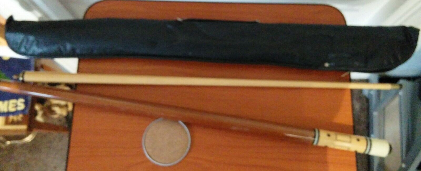2 Piece Pool/Snooker Cue with case