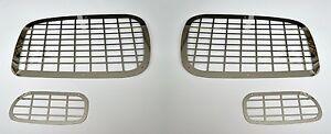 Set-4-piezas-Espejo-Acero-Inoxidable-Pulido-Protector-Para-Mercedes-Actros-Luces