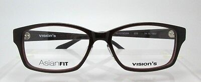 Visions 209A C03 54-15 Mens Womens Glasses Eyeglasses Optical Frames Asian Fit