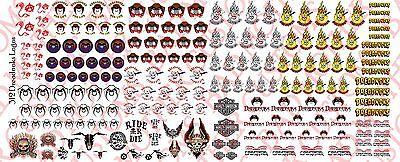 Mega Water Slide - 1/18 Custom Tattoos: GI Joe Dreadnok MEGA pack - Waterslide Decals