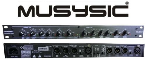 MUSYSIC MU-CO4W PROFESSIONAL 2/3/4-WAY AUDIO STEREO SOUND PROCESSING CROSSOVER