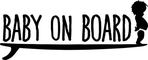 Baby on Board SURFER vinyl sticker surfboard car bumper window safety surfing