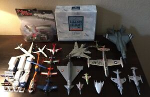 Diecast Airplanes Mixed Lot Jets Matchbox Ertl Corgi 19 Planes Helicopters